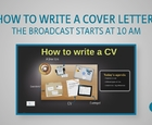 Webinar - How to write a cover letter