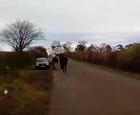 KM8 fracking  convoy