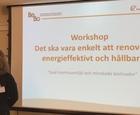 Workshop/guide Energieffektiv  renovering bostadsrättsföreningar