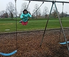 Ericka can do the swings herself now