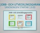 Webbinar - Om jobb- och utvecklingsgarantin