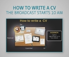 Webinar - How to write a CV