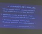 12.11.2017 Seppo Lappalainen: Anteeksianto. Mukana myös mm. Anne Lemmetty, ylistys Eija Taurén ja ryhmä.